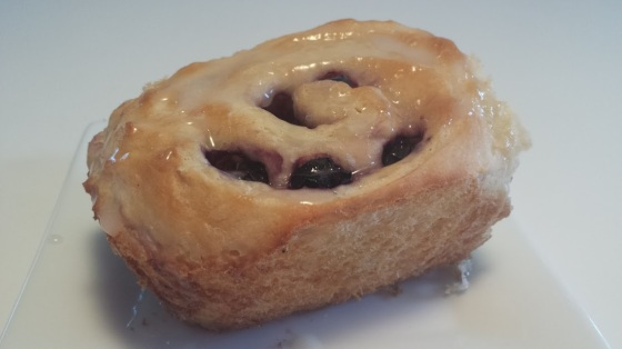 Blueberry Roll with Lemon Glaze