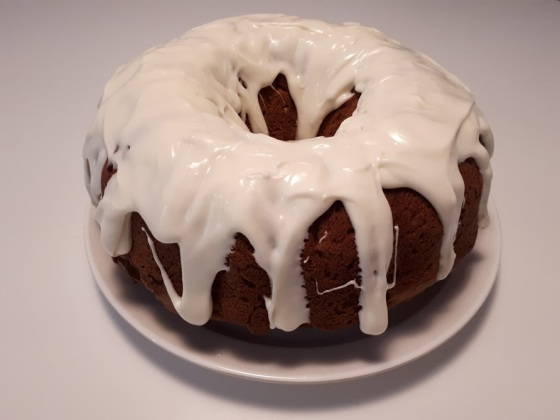 Pumpkin Bundt Bake with Cream Cheese Frosting.